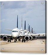 Airport Runway Stacked Up Acrylic Print