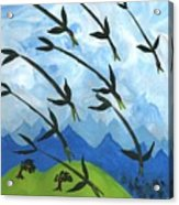 Airy Eight Of Wands Illustrated Acrylic Print
