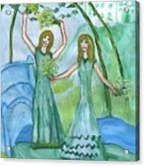 Airy Four Of Wands Illustrated Acrylic Print