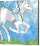 Airy Knight Of Wands Acrylic Print