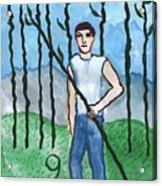 Airy Nine Of Wands Illustrated Acrylic Print