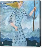 Airy Queen Of Wands Acrylic Print