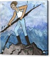 Airy Seven Of Wands Illustrated Acrylic Print