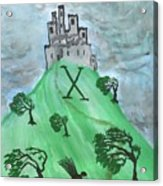 Airy Ten Of Wands Illustrated Acrylic Print