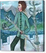 Airy Two Of Wands Illustrated Acrylic Print