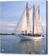 Aj Meerwald Sailing Up River Acrylic Print