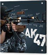 Ak-47 Infographic Acrylic Print