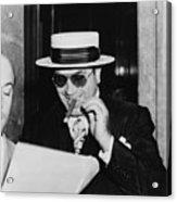 Al Capone, With A Cigar And A Big Acrylic Print