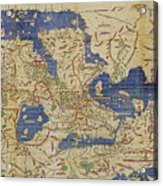 Al-idrisi's World Map, 1154 Acrylic Print
