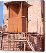 Al Manama Summer Bed And House With Cooling Tower Acrylic Print