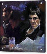 Al Pacino Snow Acrylic Print by Ylli Haruni