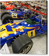 Al Unser Winning Cars At Indianapolis Acrylic Print