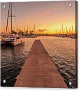 Ala Wai Harbor Sunset Acrylic Print