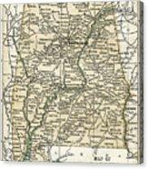Alabama Antique Map 1891 Acrylic Print