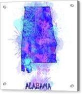 Alabama Map Watercolor 2 Acrylic Print