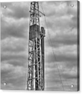 Alabama Oil Production In Black And White Acrylic Print
