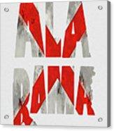 Alabama Typography Map Flag Acrylic Print