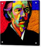 Alan Watts Portrait Acrylic Print