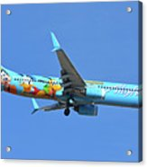 Alaska 737-990 N318as Spirit Of Disneyland Phoenix Sky Harbor November 27 2017 Acrylic Print