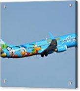 Alaska Boeing 737-990 N318as Disneyland Phoenix Sky Harbor January 19 2016 Acrylic Print