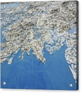 Alaska Map Wall Art Acrylic Print
