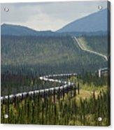 Alaska Pipeline Heading South Thru Acrylic Print