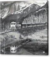 Alaska Railroad Near Whittier Acrylic Print