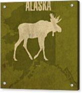 Alaska State Facts Minimalist Movie Poster Art Acrylic Print