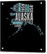 Alaska Word Cloud 1 Acrylic Print