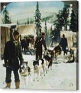 Alaskan Dog Sled, C1900 Acrylic Print