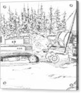 Alaskan Gold Dredge Acrylic Print