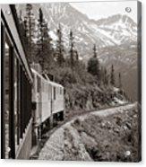 Alaskan Train Acrylic Print by Will Edwards