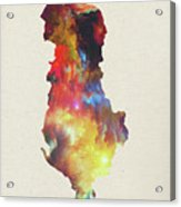 Albania Watercolor Map Acrylic Print