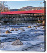 Albany Covered Bridge-white Mountains Of New Hampshire Acrylic Print