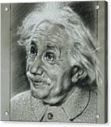 Albert Einstein Acrylic Print by Anastasis  Anastasi