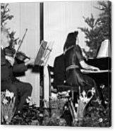 Albert Einstein Giving A Violin Recital Acrylic Print