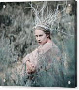 Albino In Forest Acrylic Print