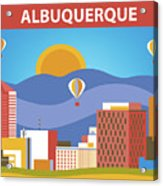 Albuquerque New Mexico Horizontal Skyline Acrylic Print