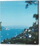 Alcatraz And San Francisco - Oakland Bay Bridge  Acrylic Print