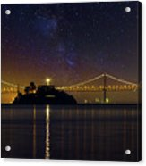 Alcatraz Island Under The Starry Night Sky Acrylic Print