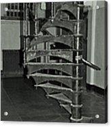 Alcatraz Stairs In Bw Acrylic Print