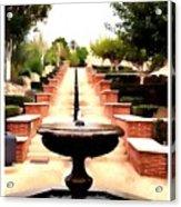 Alcazaba Fountain Acrylic Print