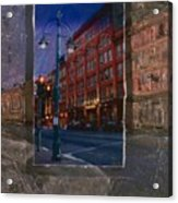 Ale House And Street Lamp Acrylic Print