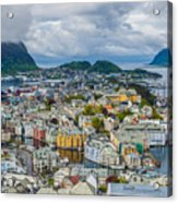 Alesund Norway Cityscape Acrylic Print