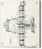 Alexander Graham Bell Airplane Patent Print, Plane Patent Blueprint Acrylic Print