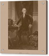 Alexander Hamilton Sitting At His Desk Acrylic Print by War Is Hell Store