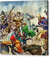 Alexander The Great At The Battle Of Issus  Acrylic Print
