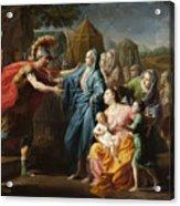 Alexander The Great Receiving The Family Of Darius IIi Acrylic Print