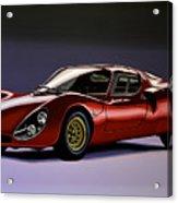 Alfa Romeo 33 Stradale 1967 Painting Acrylic Print