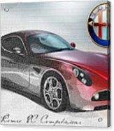 Alfa Romeo 8C Competizione  Acrylic Print